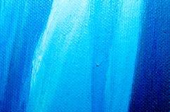 Tekstury błękitna nafciana farba na brezentowym makro- zbliżeniu obraz royalty free