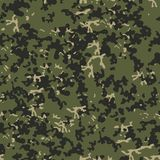 Tekstury camo militarnych powtórek wojska zieleni bezszwowy polowanie Obrazy Royalty Free