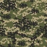 Tekstury camo militarnych powtórek wojska zieleni bezszwowy polowanie Fotografia Royalty Free