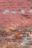 tekstury ceglana stara ściana Obrazy Royalty Free