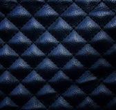 tekstury czarny rzemienny tapicerowanie Fotografia Royalty Free
