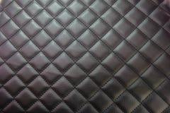 tekstury czarny rzemienny tapicerowanie Obrazy Stock