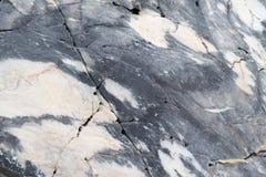 Tekstury fotografia błękitny bielu marmuru kamień z naturalnym wapnia wzorem Zdjęcia Royalty Free