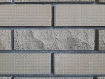 Tekstury i tło szarość cegły Ścienny kamień fotografia stock