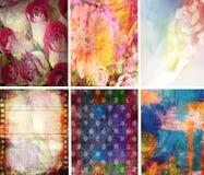 Tekstury Inkasowy Abstrakcjonistyczny Ustawiający 6 Zdjęcia Royalty Free