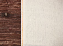 Tekstury kanwy tkanina Zdjęcia Royalty Free