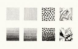 Tekstury kolekcja (atrament) Obraz Stock
