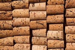 tekstury korkowy wino Fotografia Stock