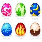 Tekstury kreskówki Easter jajka w wektorze Obrazy Royalty Free