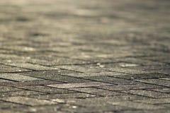 Tekstury miasta popielata płytka Fotografia Stock