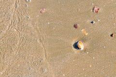 tekstury na plaży Zdjęcie Stock