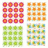 Tekstury nowożytna kolorowa gwiazdowa kolekcja, Zdjęcia Stock