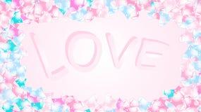 Tekstury rama z wpisowymi listami miłosnymi rozochoceni piękni kochający czuli serca Tylna tło wektoru ilustracja ilustracji