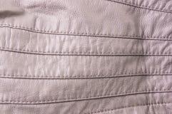 tekstury skórzana kurtka z szwami Zdjęcia Stock