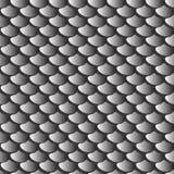 Tekstury szary rybi waży bezszwowego wzór Zdjęcie Stock