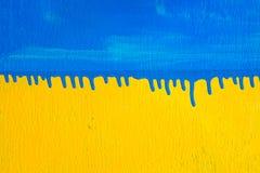Tekstury tła Drewniany Błękitny Żółty kolor Fotografia Royalty Free