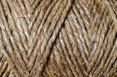 Tekstury tła szorstkiej dratwy linowy makro- zbliżenie fotografia royalty free