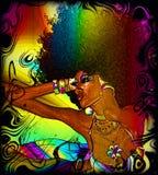 Tekstury tło, Kolorowy abstrakt, Retro Afro ilustracja wektor