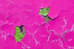 Tekstury tło różowa obieranie farba na starej szorstkiej tekstury powierzchni Zdjęcia Stock