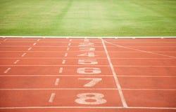 Tekstury tła atletyka Szlakowy pas ruchu Obrazy Royalty Free