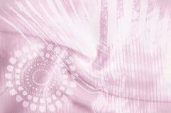 Tekstury tła wizerunek, Jedwabnicza tkanina z abstrakta wzorem flo Zdjęcia Stock