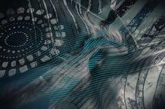 Tekstury tła wizerunek, Jedwabnicza tkanina z abstrakta wzorem flo Zdjęcia Royalty Free