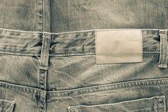 Tekstury tkanina cajgów ubrania brudzi kolor Zdjęcia Royalty Free