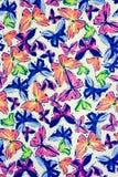 Tekstury tkanina motyl Zdjęcia Stock