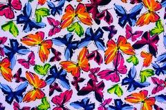 Tekstury tkanina motyl Zdjęcie Stock