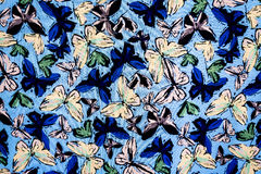 Tekstury tkanina motyl Fotografia Royalty Free