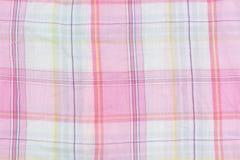 Tekstury tkanina w klatce Fotografia Royalty Free