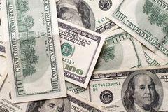 Tekstury USA dolary Tło sto dolarowych rachunków fotografia stock