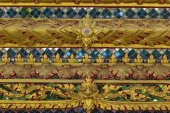 Tekstury zakończenie Piękny stary ornament na ścianie Tajlandzki h obraz royalty free