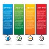 Tekstvakje met bedrijfsstrategiediagram Royalty-vrije Stock Foto's