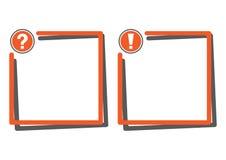 Tekstvakken met vraagtekenknoop en de knoop van het uitroepteken Vector illustratie vector illustratie