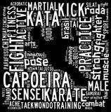 Tekstwolk van Vechtsporten met vorm Royalty-vrije Stock Afbeelding