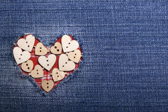 Tekstylna aplikacja dla walentynka dnia Zdjęcia Royalty Free