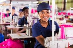 Tekstylna pracownik fabryka obraz royalty free