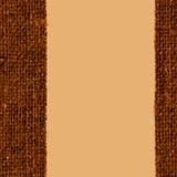 Tekstylna przędza, tkanina sznurek, khaka kanwa, linowy materiał, retro tło Zdjęcie Royalty Free