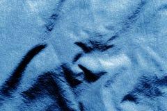 Tekstylna tekstura w marynarki wojennej błękita kolorze Zdjęcia Royalty Free