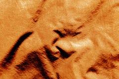 Tekstylna tekstura w pomarańczowym kolorze Fotografia Stock