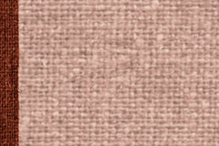 Tekstylna tkanka, tkanina przemysł, brown kanwa, okładkowy materiał, papierowy tło Zdjęcie Royalty Free
