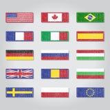 Tekstylne flaga Zdjęcia Stock