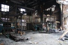 Tekstylnego młynu ogienia scena Zdjęcie Royalty Free