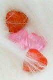 tekstylnego serce cztery futerkowego kształta Obrazy Stock