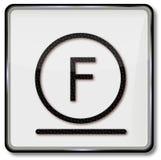 Tekstylnego symbolu delikatny cleaning z węglowodoru rozpuszczalnikiem Zdjęcia Stock
