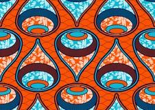 Tekstylnej moda druku afrykańskiej tkaniny super wosk ilustracji