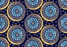 Tekstylnej moda druku afrykańskiej tkaniny super wosk ilustracja wektor