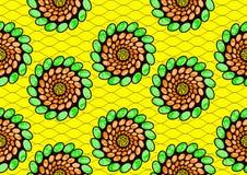 Tekstylnej moda druku afrykańskiej tkaniny super wosk royalty ilustracja