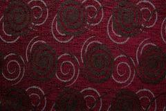 Tekstylnej tkaniny tekstury Anemonu 06 zmrok - czerwony kolor Obrazy Stock